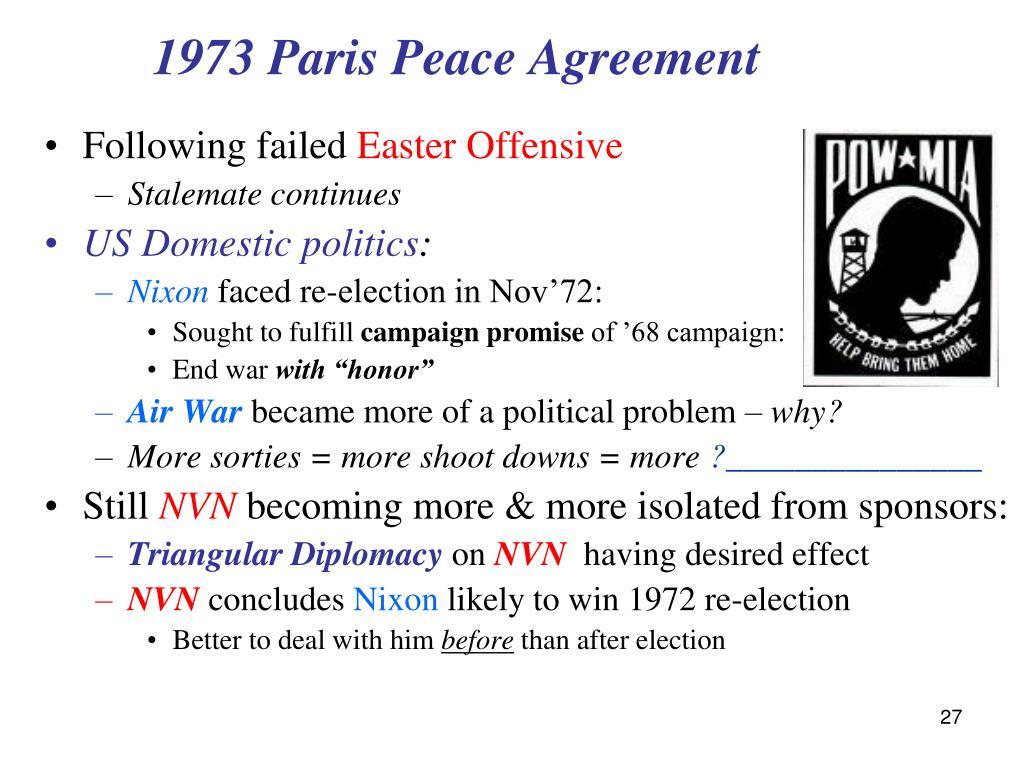 1973 Paris Peace Agreement