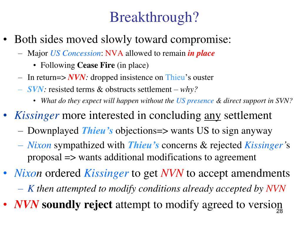 Breakthrough?