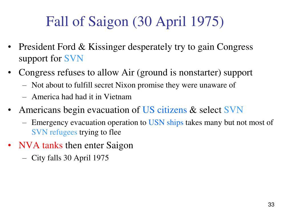 Fall of Saigon (30 April 1975)
