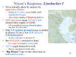 nixon s response linebacker i