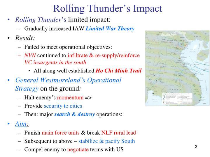 Rolling thunder s impact