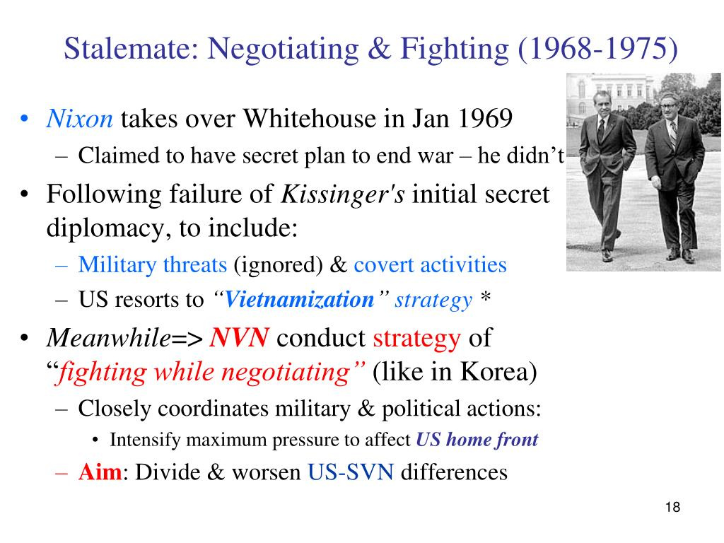 Stalemate: Negotiating & Fighting (1968-1975)