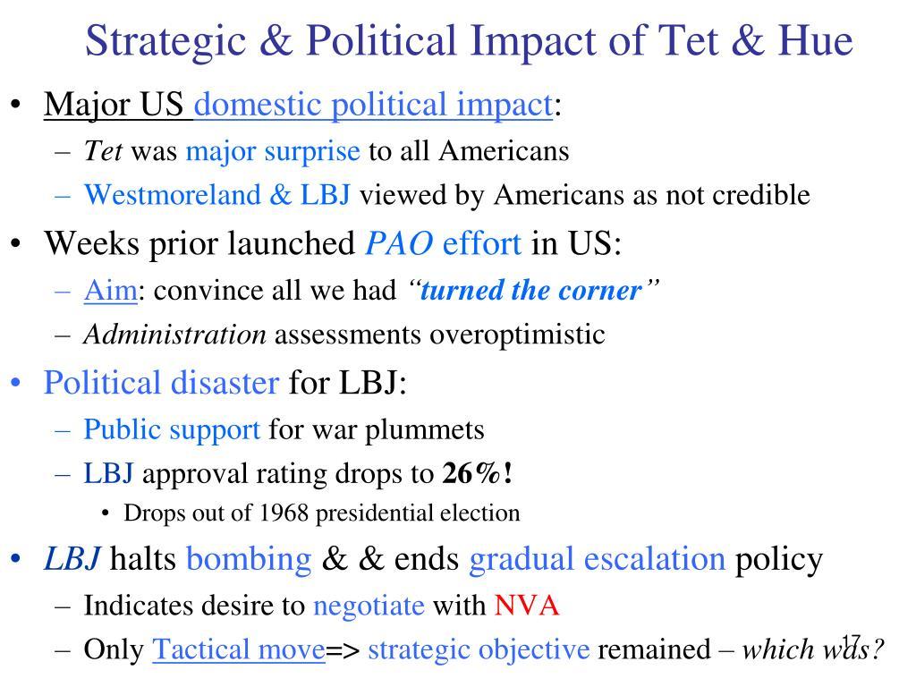 Strategic & Political Impact of Tet & Hue