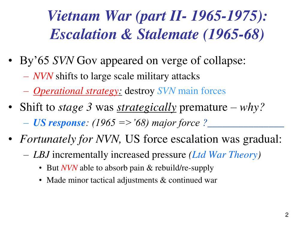 Vietnam War (part II- 1965-1975):