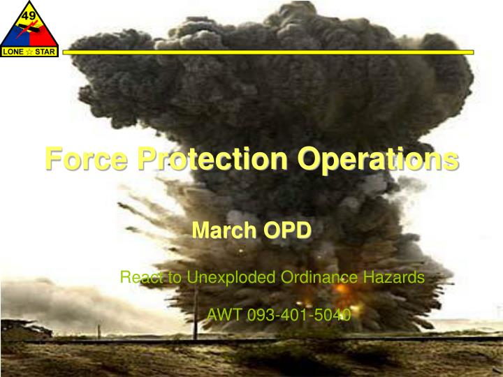 force protection operations n.