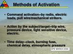 methods of activation