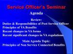 service officer s seminar