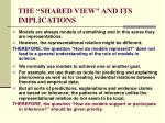 the shared view and its implications