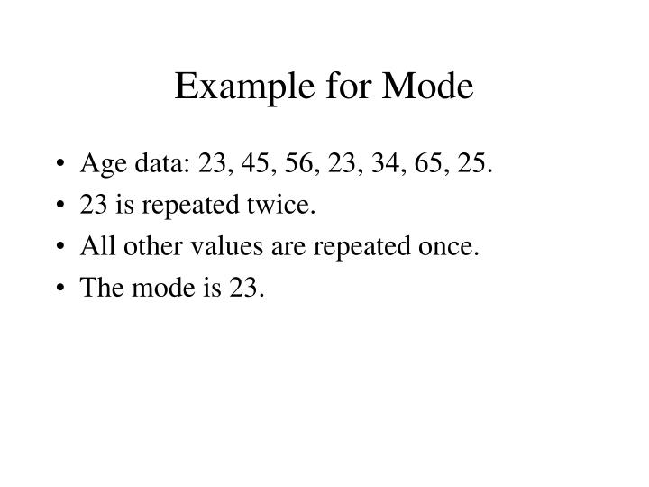 Example for Mode