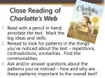 close reading of charlotte s web
