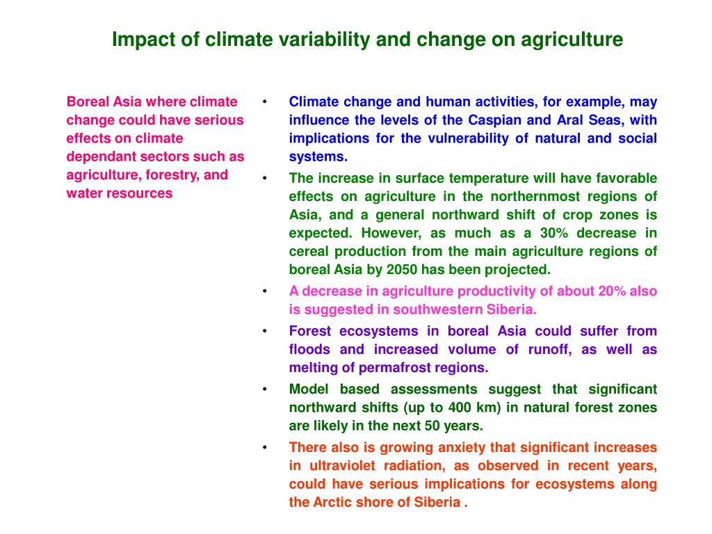 impact of climate variability and chang