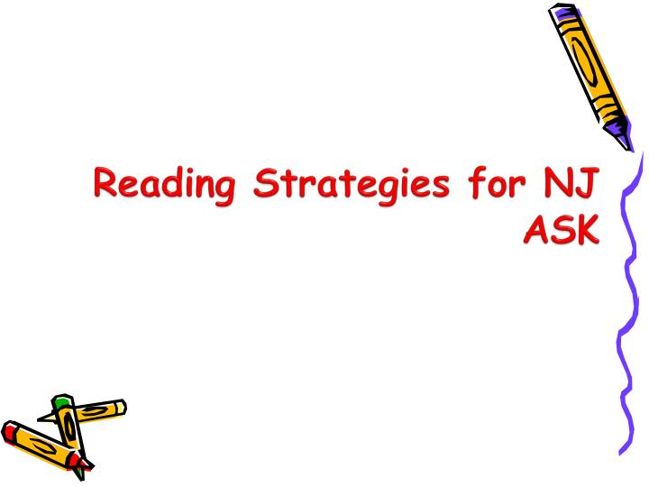 reading strategies for nj ask n.