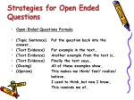 strategies for open ended questions