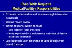 ryan white requests medical facility s responsibilities