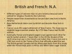 british and french n a