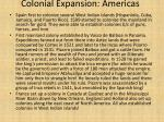 colonial expansion americas