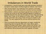 imbalances in world trade