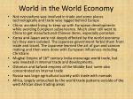 world in the world economy