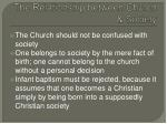 the relationship between church society