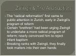 zwingli the anabaptists