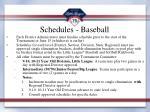 schedules baseball