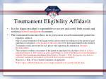 tournament eligibility affidavit