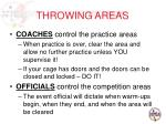 throwing areas