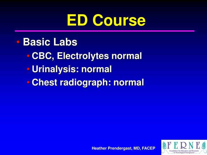 ED Course