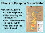 effects of pumping groundwater2
