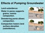 effects of pumping groundwater3