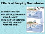 effects of pumping groundwater5