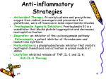 anti inflammatory strategies