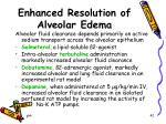 enhanced resolution of alveolar edema