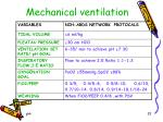 mechanical ventilation1