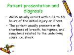 patient presentation and diagnosis1