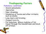 predisposing factors1