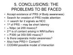 5 conclusions the problems to be faced