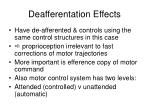 deafferentation effects