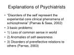 explanations of psychiatrists