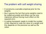 the problem with soft weight sharing