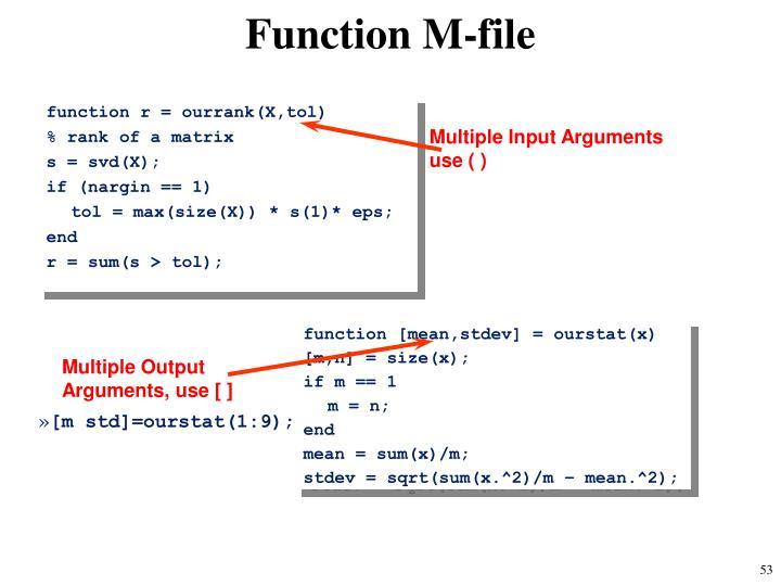Function M-file