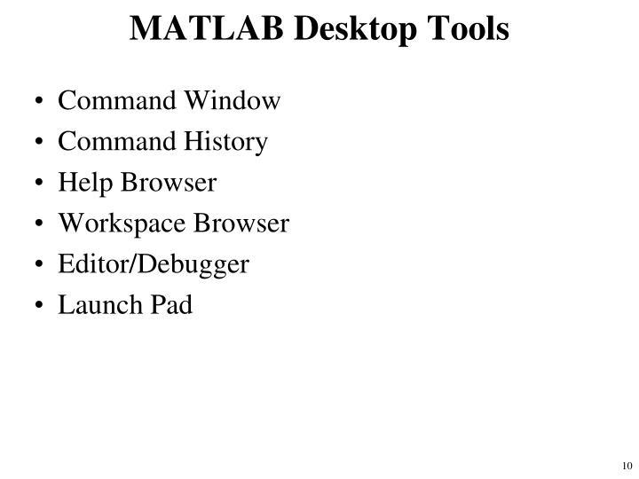 MATLAB Desktop Tools