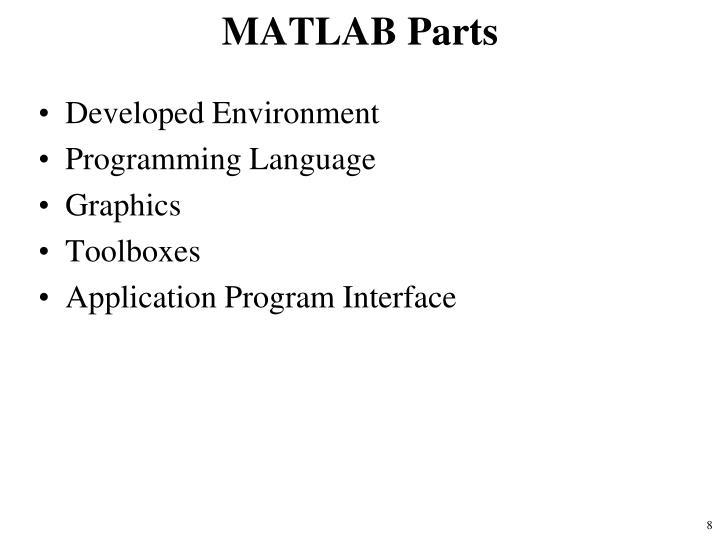 MATLAB Parts