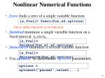 nonlinear numerical functions1