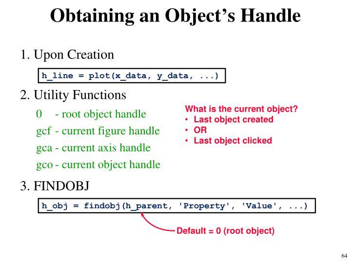 Obtaining an Object's Handle