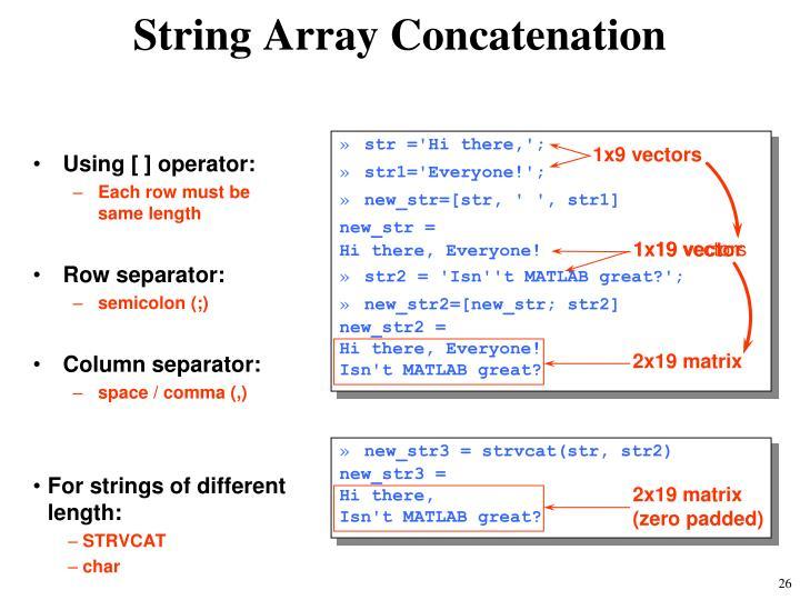 String Array Concatenation