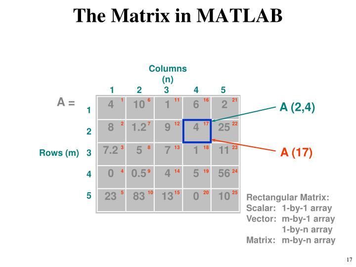 The Matrix in MATLAB