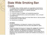 state wide smoking ban cont