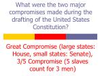what were the two major compromises made during the drafting of the united states constitution