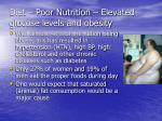 diet poor nutrition elevated glucose levels and obesity